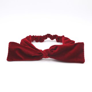 /Handmade ribbon headband/ Wine red velvet 2 way