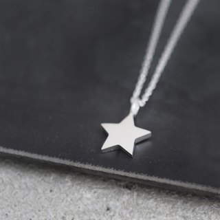tiny Star Mens Necklace Silver 925