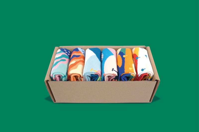 25% Dear, Buncho Collection GiftBox   | Crew Socks | Mens Socks | Womens Socks