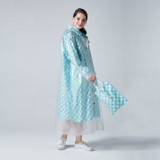 BAOGANI Double Raincoat - Houndstooth (Blue)