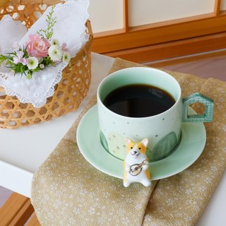 Three shallow pottery original design small Keji couple coffee cup creative hand to send friends birthday wedding gifts