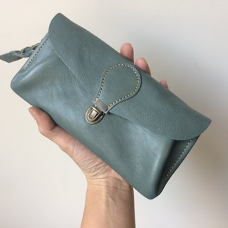 "Soft genuine leather wallet ""series-envelope"" sage"