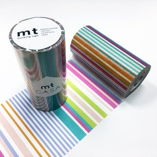 KAMOI mt CASA tape 100mm【Multi Border Pastel (MTCA1121)】