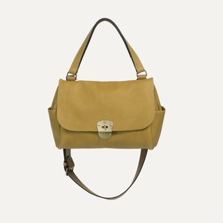 [Bleu de Chauffe] JUNE BAG leather bag _Jaune / yellow