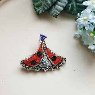 Embroidery pin dream small tent Ko12 Little ladybug dream tent