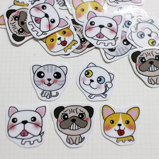 Mini Sticker Bag_Cat, Dog, Dog (20 in)