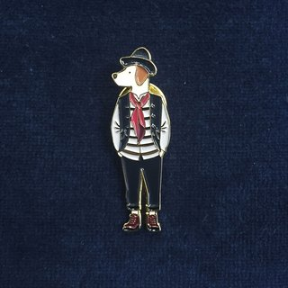 #16 Mr. Dog With a Hat Pin/Brooch