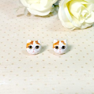 Exotic shorthair cat earrings, Cat stud earrings, cat lover gifts