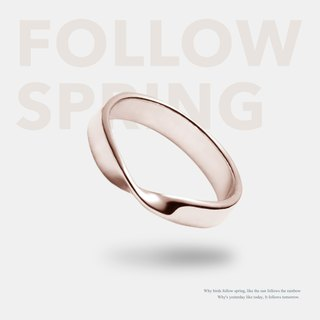 Rose Traveler [Classic Mobius Ring] Single Ring