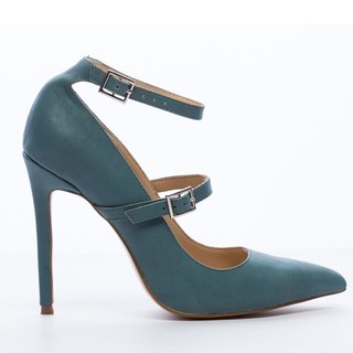 Saint Landry [French] bicyclic design high-heeled shoes - Mineral Blue