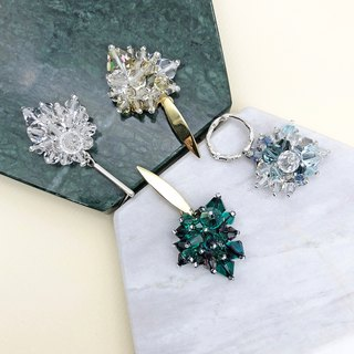 Swarovski Crystals 925 Silver Earrings【Crystal Earrings】【wedding】【Birthday Gift】