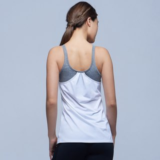 [MACACA] STB US back 2IN1 vest - ARE1634 light gray / white