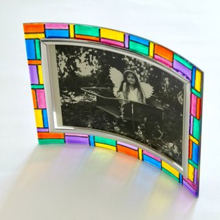 Rainbow Multi-colored Blocks Decorative Photo Frame・Personalised Birthday Gift