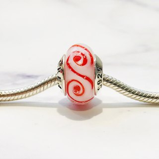 PANDORA/ Trollbeads / All major bead brands can be stringed * - White red