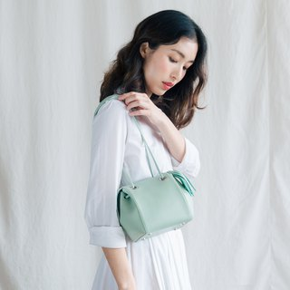 CUDDLE BAG - CUTE MINIMAL CROSS BODY LEATHER BAG- MINT GREEN