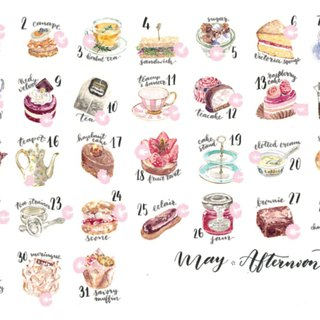 Sticker Set - Afternoon tea (31 pieces)