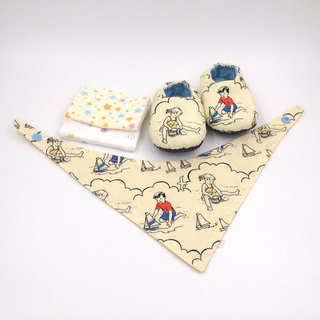 Children's Beach - Miyue Baby Gift Box (toddler shoes / baby shoes / baby shoes + 2 handkerchief + scarf)