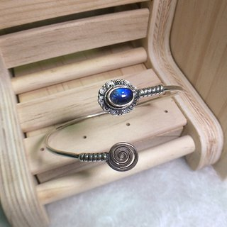 Labradorite Bangle Handmade in Nepal 92.5% Silver