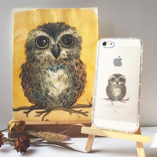 Owl - Mobile Shell / Drop / Air Shell / Customized Handwriting + Plus