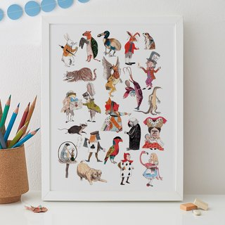 ALICE IN WONDERLAND CHARACTERS PRINT