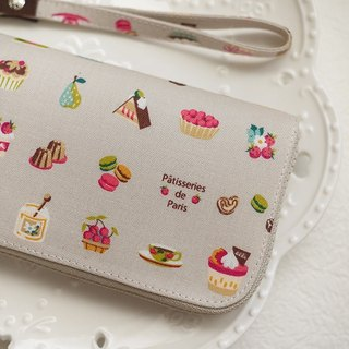 Afternoon tea. Cloth long wallet/wallet/wallet/purse