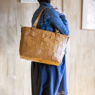 Mesh leather Tote Bag / Shoulder belt