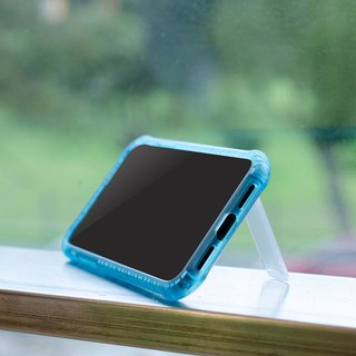 "Stiff Series │iPhone X (5.8"")│Shock absorbing case with stand│Crystal blue"