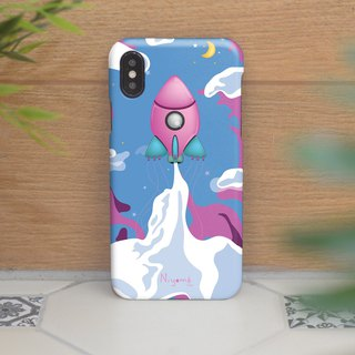iphone case pastel pink rocket for iphone5s,6s,6s plus,7,7+, 8, 8+,iphone x
