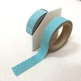 Cloth tape - spring little bit [elegant blue green small point]