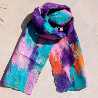 Wool felt scarves / wet felt scarves / watercolor art scarf / wool gradient scarves - gradient color palette