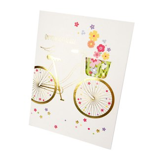 The bird stays on the bicycle waiting for you [Hallmark-three-dimensional card birthday greeting]