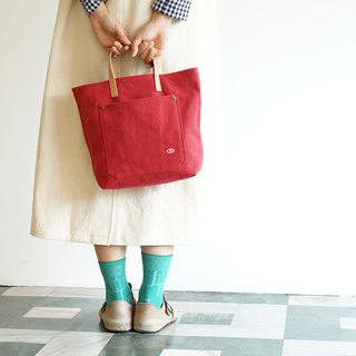 Mushroom MOGU / Portable Tote / Watermelon Red / My Darling