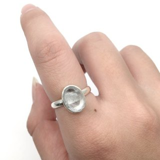 Seahorse Sapphire Simple Neoprene Ring in Sterling Silver Made in Nepal (Oval Gemstone)