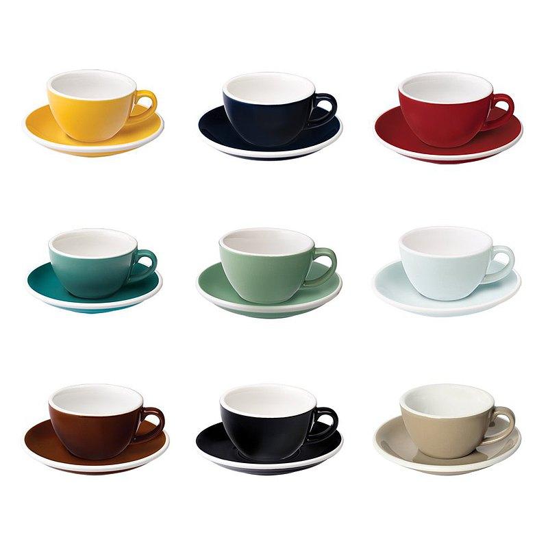 LOVERAMICS 愛陶樂 蛋形系列 150ml 五色 白咖啡杯盤組