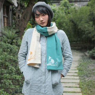 Border Forest feel cotton-linen scarves series