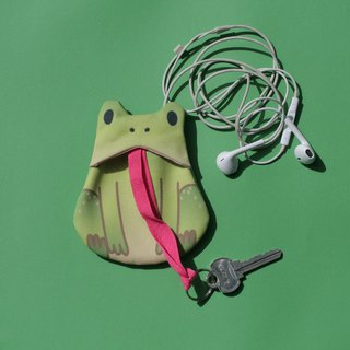 Handmade Green Frog Key Keeper