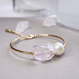 Sweet Pink  Rose Quartz Bracelet