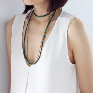 Malachite Necklaces Stone Tassel Necklaces Long Necklace Wrap Bracelets Wrap