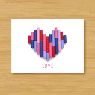 Hand roll paper card _ layer love B ..... Valentine card, mother card, wedding greeting card