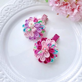 Japanese style and wind cloth flower spiral color matching children's hairpin hair accessories