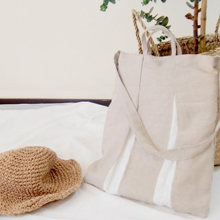 Morandi cotton and linen cool sensation bag ( shoulder / side / portable three)