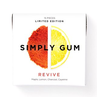 Simply Gum Soho Card, Red Pepper, Lemon Taste, Chewing Sugar