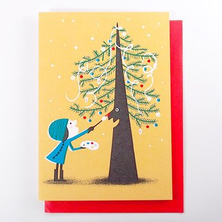 Help the Christmas tree with a surprise Christmas card [1973-Card Christmas Series]