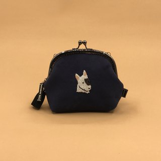 Bull Terrier Hyena Sew Bead Big Face Series Gold Bag Coin Purse Sew Pearl Change Contains Chains