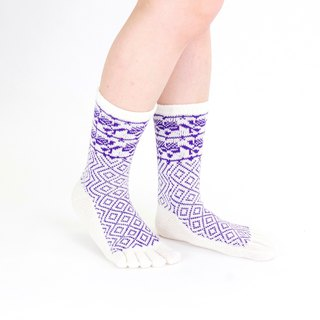 mansikka pattern 5toe socks