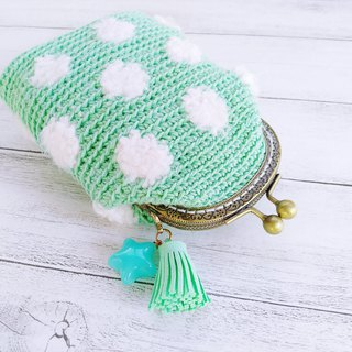 Clouds little Tiffany green braided gold bag
