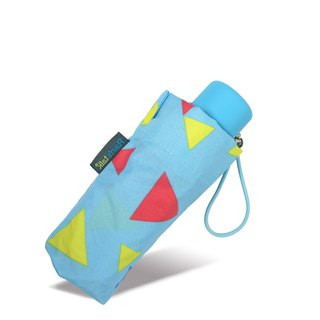 [Taiwan Wenchuang Rain's talk] colorful triangle 50 fold hand open umbrella