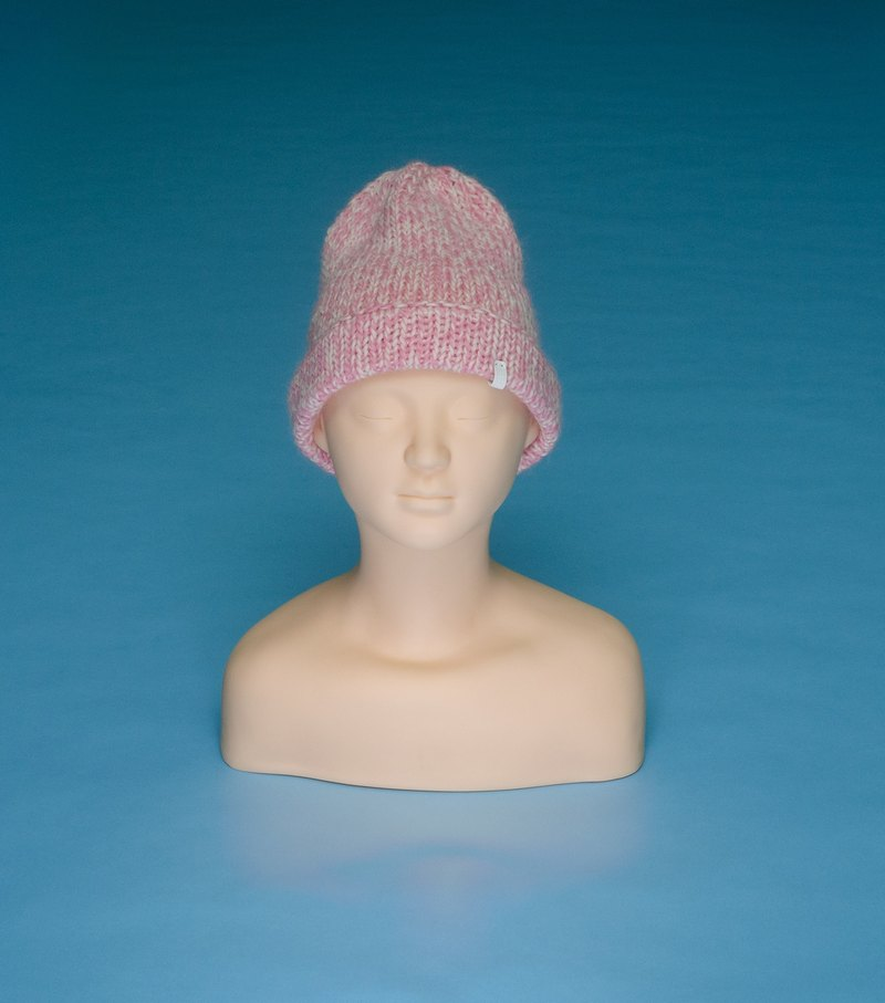 over the basic ♦ Heavyweight - Pink HV02 Hand-woven cap