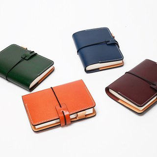 New AMEET color colour series vegetable tanned leather 64k portable pocket notebook 4 colors