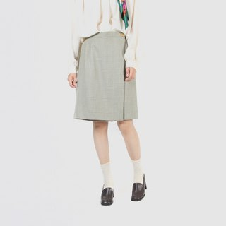 [Egg plant ancient] leisurely afternoon tea woolen vintage pants skirt